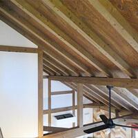 サイエンスホーム八戸|ひのきづくし10のお品書き「勾配天井化粧垂木」