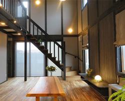 サイエンスホーム八戸|選べる木の色:ブラック(イメージ画像)