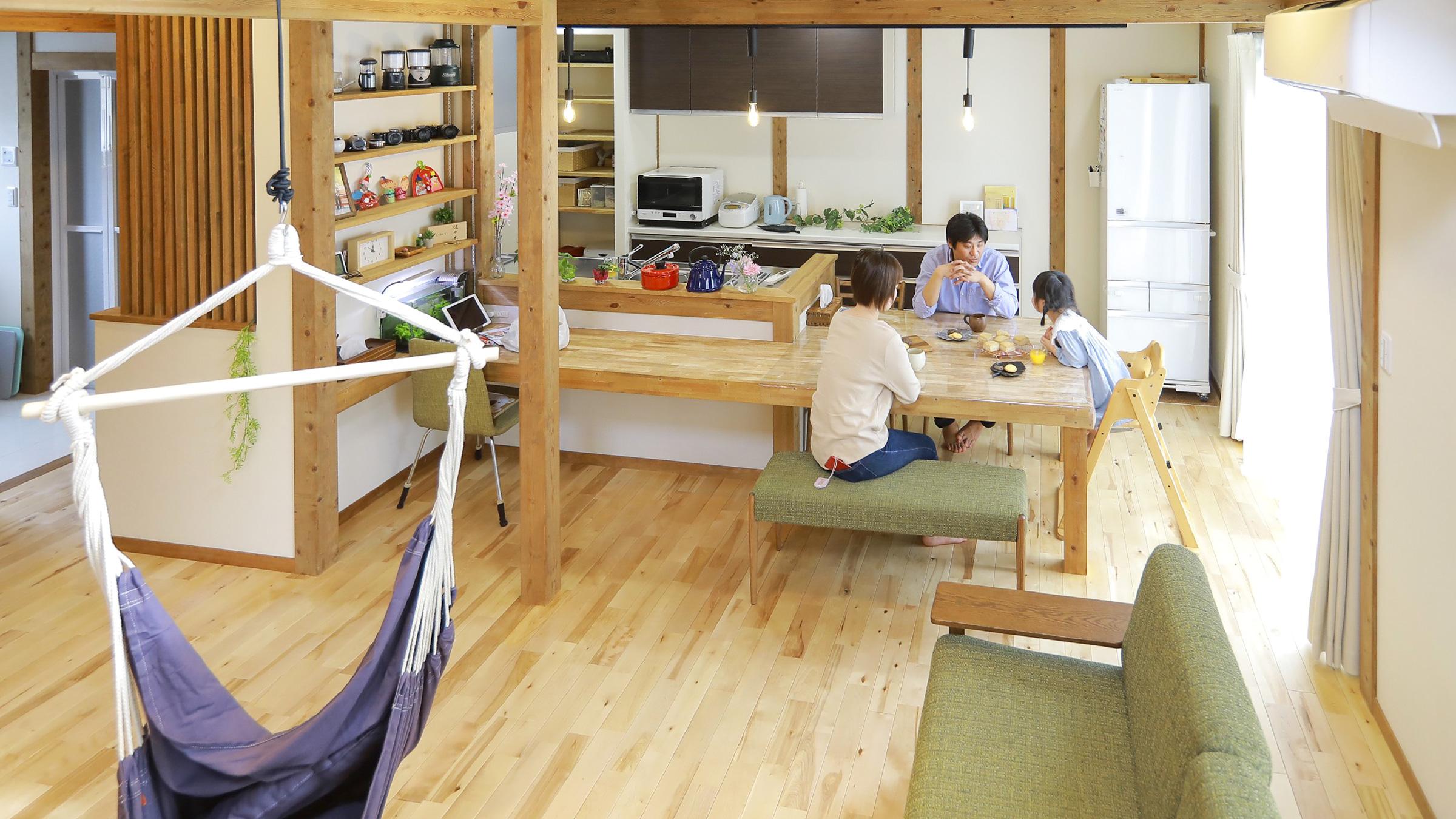サイエンスホームの施工事例 収納上手な家族が快適に暮らす家