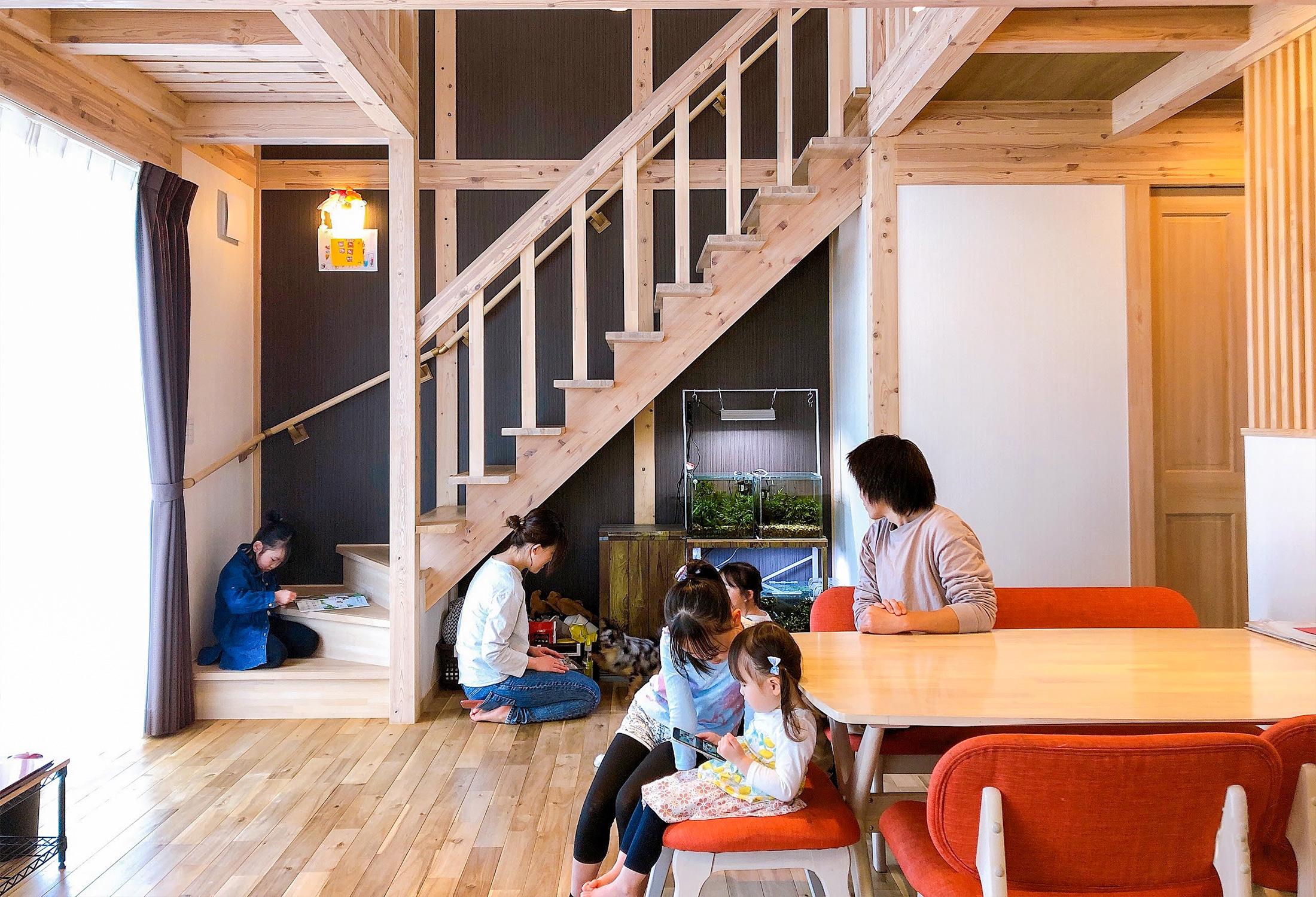 サイエンスホームの施工事例|機能と楽しさの融合 家族が集うリビング